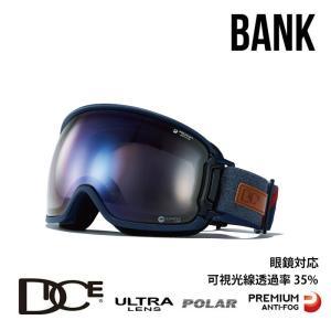 ダイス スノーボード ゴーグル BANK バンク DICE (BK94165NAV) BK-U/LPICEd-PAF NAV スノボ スキー goggle [0130] shop-hood