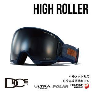ダイス スノーボード ゴーグル HIGH ROLLER ハイローラー DICE (HR94362NAV) HR-pU/LPBKd-PAF NAV スノボ スキー goggle [0130] shop-hood