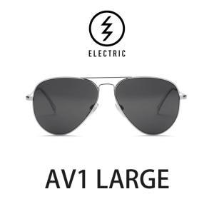 エレクトリック サングラス ELECTRIC AV1 LARGE PLATINUM / LENS:GREY メガネ 眼鏡 メンズ レディース UVカット ティアドロップ|shop-hood