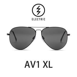 エレクトリック サングラス ELECTRIC AV1 XL BLACK / LENS:GREY メガネ 眼鏡 メンズ レディース UVカット ティアドロップ|shop-hood