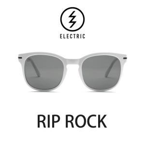 エレクトリック サングラス ELECTRIC RIP ROCK GLOSS WHITE / LENS:GREY メガネ 眼鏡 メンズ レディース UVカット|shop-hood