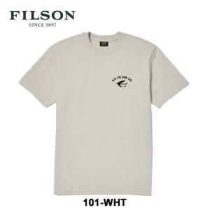 フィルソン Tシャツ メンズ OUTFITTER GRAPHIC TEE 半袖Tシャツ Filson #05783 白 S M  [メール便][0601] shop-hood