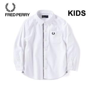 フレッドペリー キッズ シャツ FRED PERRY FY4002 Kids Glencheck Trim Shirt 長袖 白シャツ 入学 入園 パーティ|shop-hood