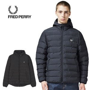 フレッドペリー 中綿ブルゾン FRED PERRY J2514 INSULATED HOODIE 102(BLK) アウター 1010|shop-hood