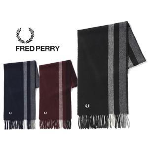 フレッドペリー マフラー ウール カシミヤ FRED PERRY [ C4111 ]  TIPPED WOVEN SCARF [1201]|shop-hood