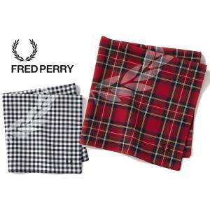 フレッドペリー ハンカチ チェック FRED PERRY [ F19896 ] HANDKERCHIEF [メール便][1201]|shop-hood