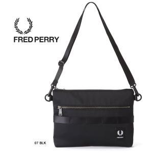 フレッドペリー サコッシュ FRED PERRY [ F9538 ] SACOCHE BAG 07 BLK ショルダーポーチ バッグ カバン [0103]|shop-hood