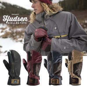 【5%還元】ハドソン グローブ HUDSEN CALVIN スキー スノーボード スノボ スノボー スノーグローブ スキーグローブ ロブスターミトン メンズ 男性用 1115|shop-hood