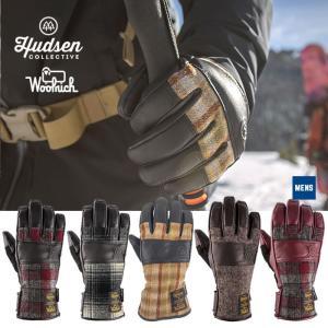 ハドソン グローブ 5本指 メンズ Hudsen collective HW-1AM  Eli スノボ スキー グローブ スノーボードグローブ 手袋 男性用 ウールリッチ コラボ  [1101]|shop-hood
