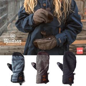 【5%還元】ハドソン スノーボードグローブ ミトン レディース Hudsen collective HC-20L Harriet ミトングローブ スノボ スキー グローブ 手袋 女性用 [1101]|shop-hood