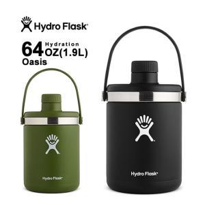 ハイドロフラスク 保温 保冷 ボトル 水筒 魔法瓶 直飲み 64oz 1.9L Hydro Flask 5089086 OASIS HYDRATION オアシス|shop-hood