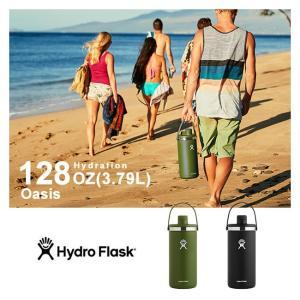 ハイドロフラスク 保温 保冷 ボトル 水筒 魔法瓶 直飲み 128oz 3.79L Hydro Flask 5089087 OASIS HYDRATION オアシス|shop-hood