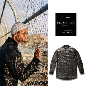 【5%還元】Jiberish ジバリッシュ 日本製 リップストップ キルティング ジャケット インサレーションジャケット 丈長 ライナーコート|shop-hood