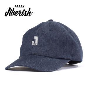 【5%還元】デニムキャップ Jiberish ジバリッシュ MINI J UNSTRUCTURED 6 PANEL BLACK  6パネル 帽子 cap メンズ レディース|shop-hood