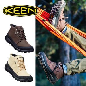 【5%還元】キーン ブーツ チャッカブーツ メンズ 靴 KEEN ベージュ ブラウン GLIESER CHUKKA NYLON WP グリーザー チャッカ ナイロン [0904] shop-hood