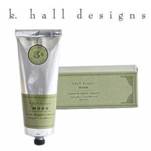 ハンドクリーム K.hall designs ケイホールデザインズ H&Bクリーム モス 100g MOSS 米国製 KHALL K-HALL khall shop-hood
