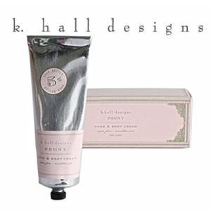 ハンドクリーム K.hall designs ケイホールデザインズ H&Bクリーム ピオニー 100g PEONY 米国製 KHALL K-HALL khall shop-hood