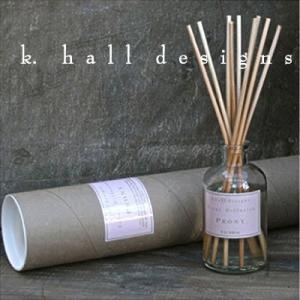 K.hall designs ケイホールデザインズ ディフューザー ピオニー 236ml Diffusers PEONY 米国製 K-HALL ディフューザー スティック ガラスボトル アロマ|shop-hood