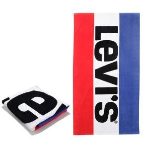 リーバイス タオル 大判タオル バスタオル Levi's 38089 SPORTSWEAR LOGO T 0003 WHT ビーチタオル|shop-hood
