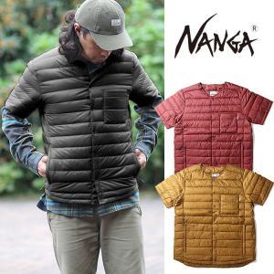 【5%還元】ナンガ ダウンジャケット ダウンシャツ アウター NANGA DOWN SHIRT 半袖 ジャケット ラウンドネック 0905|shop-hood