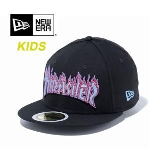 【5%還元】ニューエラ キッズ キャップ newera KIDS 5950 THRASHER 11781093 FIRE BLK/U.BLUE スラッシャー 帽子 子供 [1101]|shop-hood