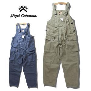 【5%還元】ナイジェルケーボン オーバーオール Nigel Caboun [ P-52 NAVAL DUNGAREE GA DY C.HB ] ネイヴァルダンガリー ワーク パンツ [0304]|shop-hood