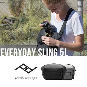 ◆ EVERYDAY SLING 5L  ミラーレスやコンパクトカメラはもちろん、小型一眼レフを1...