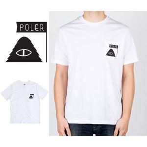 ポーラー Tシャツ メンズ 半袖 POLER SUMMIT POCKET TEE camping polerstuff ポケットT ポケT メール便|shop-hood