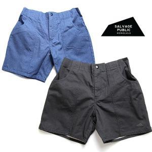 【5%還元】サルベージパブリック ショートパンツ パンツ メンズ SALVAGE PUBLIC CROMWELL RIPSTOP SHORT ハーフパンツ ズボン 0510|shop-hood