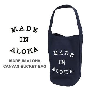 メイドインアロハ トートバッグ MADE IN ALOHA Canvas bucket bag NVY キャンバスバケットバッグ カバン 鞄|shop-hood