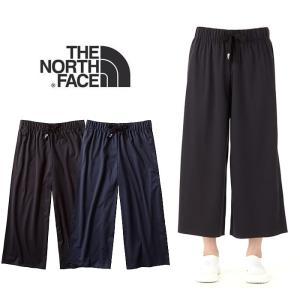 【5%還元】ノースフェイス レディース パンツ ズボン UVカット THE NORTH FACE テックラウンジナインテンパンツ ワイドパンツ NBW31762|shop-hood