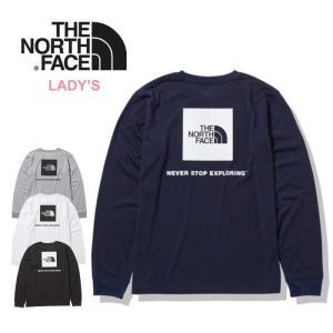 ノースフェイス ロンT 長袖 Tシャツ レディース THE NORTH FACE NTW82035  W'S L/S BACK SQ LOGO T ロングスリーブ バック スクエア ロゴ メール便0802 shop-hood