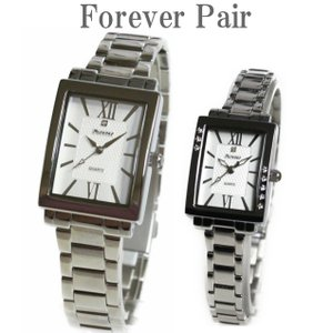 ペアウォッチ 腕時計 フォーエバー 天然ダイヤ1石 ペア腕時計 プレゼント メンズ レディースウォッチ デザインウォッチ|shop-k-yu