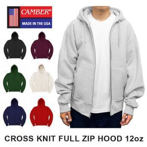 キャンバー クロスニット ジップアップ フード パーカー 12オンス MADE IN USA メンズ レディース CAMBER CROSS KNIT FULL ZIP HOOD 12oz CAMB-F0231|shop-kandj