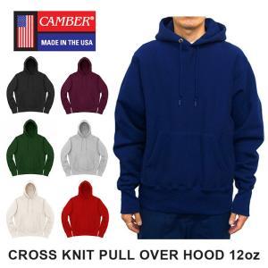 キャンバー クロスニット プルオーバー フード パーカー 12オンス 裏起毛 MADE IN USA メンズ レディース CAMBER CROSS KNIT PULL OVER HOOD 12oz|shop-kandj
