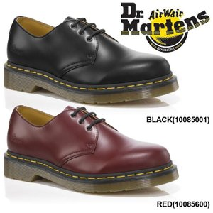 ドクターマーチン Dr.Martens 3ホール 3アイレット ギブソンシューズ メンズ レディース シューズ レディースサイズ 黒 ブラック 赤 レッド|shop-kandj
