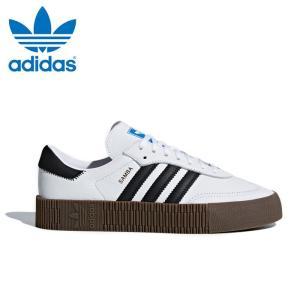 送料無料 アディダス オリジナルス サンバ ウィメンズ レディース スニーカー レザー シューズ 靴 ホワイト ブラック ガム adidas originals SAMBAROSE W AQ1134|shop-kandj