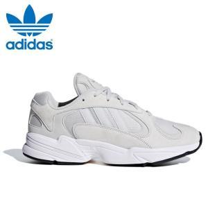 送料無料 アディダス オリジナルス ヤング 1 メンズ スニーカー ダッドシューズ ダッドスニーカー 靴 白 灰 ホワイト グレー adidas originals YUNG 1 BD7659|shop-kandj