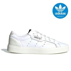 アディダス オリジナルス スリーク ウィメンズ レディース メンズ スニーカー レザー シューズ 靴 ホワイト adidas originals SLEEK W CG6199|shop-kandj