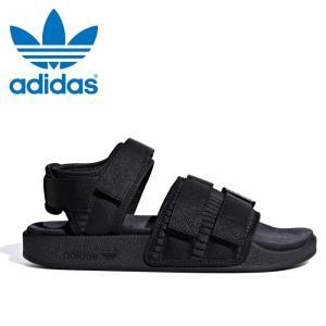 送料無料 アディダス オリジナルス アディレッタ サンダル 2.0 W ウィメンズ レディース メンズ サンダル スポーツサンダル 靴 ブラック 黒 adidas originals|shop-kandj