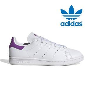 アディダス オリジナルス スタンスミス レディース スニーカー レザー 本革 シューズ 靴 ホワイト パープル adidas originals STAN SMITH W EE5864 shop-kandj