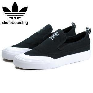 アディダス adidas スケートボーディング マッチコート スリップ スリッポン スニーカー メンズ ブラック 黒 SKATEBOARDING MATCHCOURT SLIP BLACK F37387|shop-kandj
