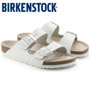 ビルケンシュトック Birkenstock アリゾナ レザー レディース メンズ サンダル コンフォート 白 ホワイト 本革 スムースレザー ARIZONA shop-kandj