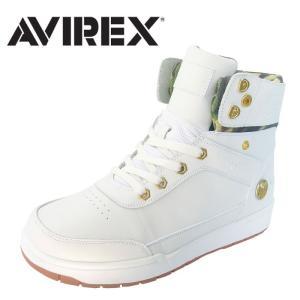 アビレックス AV1261 ブリザードミッド スニーカー ハイシューズ メンズ レディース WHITE ホワイト BLIZZARD MID SYN アヴィレックス shop-kandj