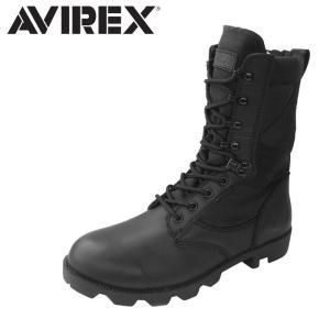アヴィレックス AVIREX ミリタリーブーツ レザー ブーツ レースアップブーツ メンズ レディース BLACK COMBAT|shop-kandj