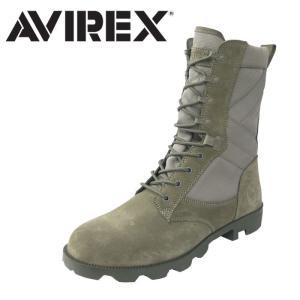 アヴィレックス AVIREX ミリタリーブーツ スウェード ブーツ レースアップブーツ メンズ レディース SMOKE_GREY_SUEDE グレー COMBAT av2001|shop-kandj