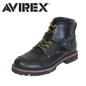 アヴィレックス AVIREX バイカーブーツ ミリタリー レザー ブーツ ミッドカット メンズ レディース BLACK ブラック TIGER|shop-kandj