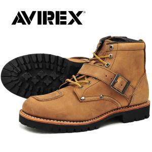アヴィレックス AVIREX バイカーブーツ ミリタリー レザー ブーツ ミッドカット メンズ レディース CRAZY_HORSE TIGER|shop-kandj
