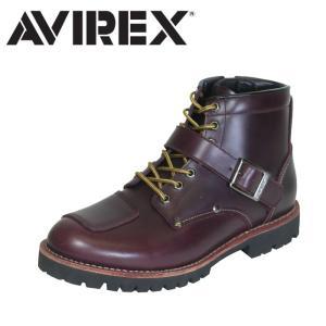 アヴィレックス AVIREX バイカーブーツ ミリタリー レザー ブーツ ミッドカット メンズ レディース RUSSET ブラウン TIGER|shop-kandj