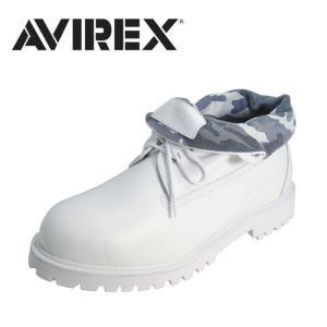 アビレックス AVIREX AV3010 コブラロール ブーツ メンズ レディース ホワイト 白 WHITE COBRA ROLL アヴィレックス 本革 レザー shop-kandj